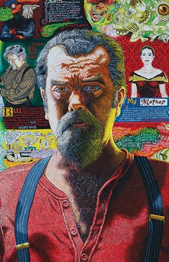 Joe Coleman's portrait painting