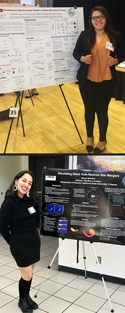 Denyz Melchor and Kimberly Lopez-Zepeda present their research