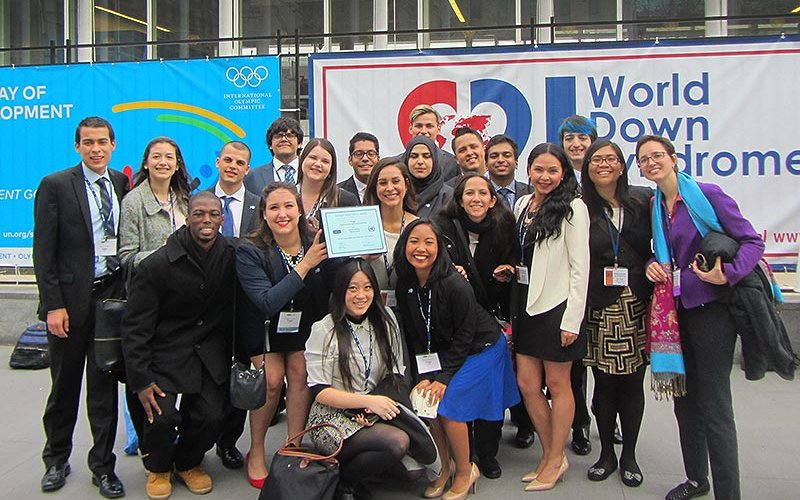 Group of model UN students