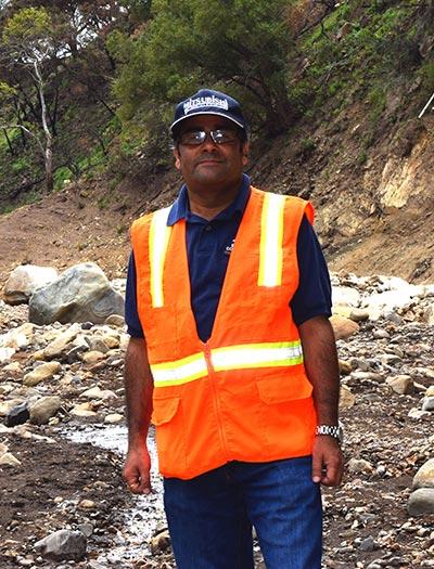 Binod Tiwari at Montecito mudslide