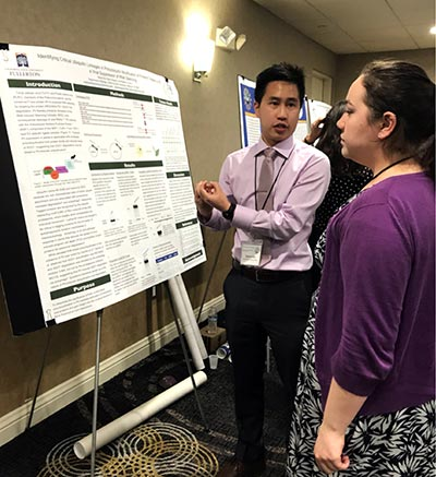 Nathan Bui presenting research