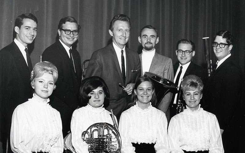 Roger Vaughan and students