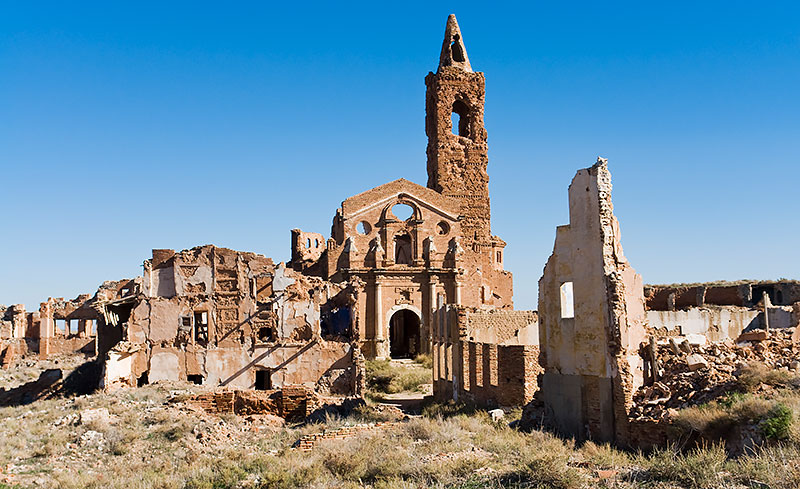 Old Belchite destructed during the Spanish Civil War