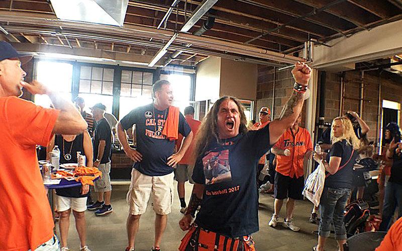 Super Fan Keith shouting.