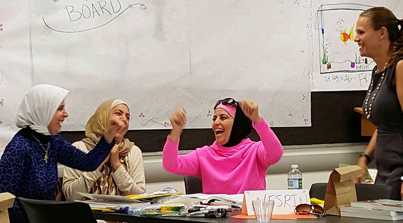 Syrian teachers in the classroom