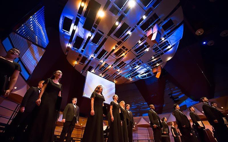 University Singers performing on stage