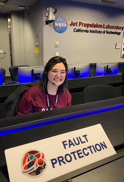 Lauren Du Charme at NASA JPL mission control