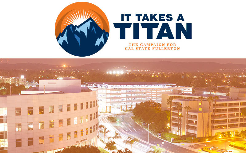 It Takes a Titan Campaign art with campus