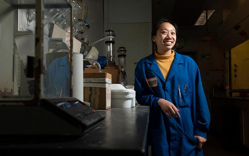 Shaina Nguyen in Laboratory