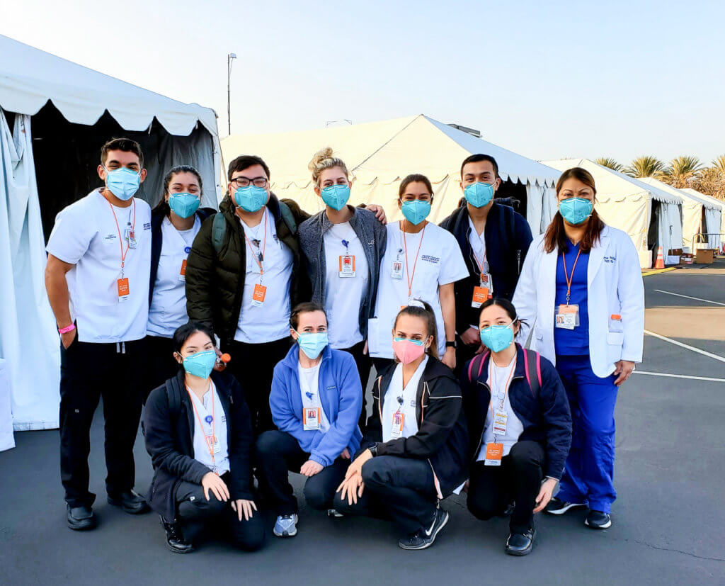 CSUF Nursing Students POD Group outside of COVID Vaccination Site