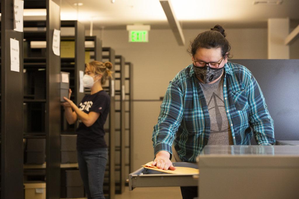 Natalie Garcia working in new COPH Lab