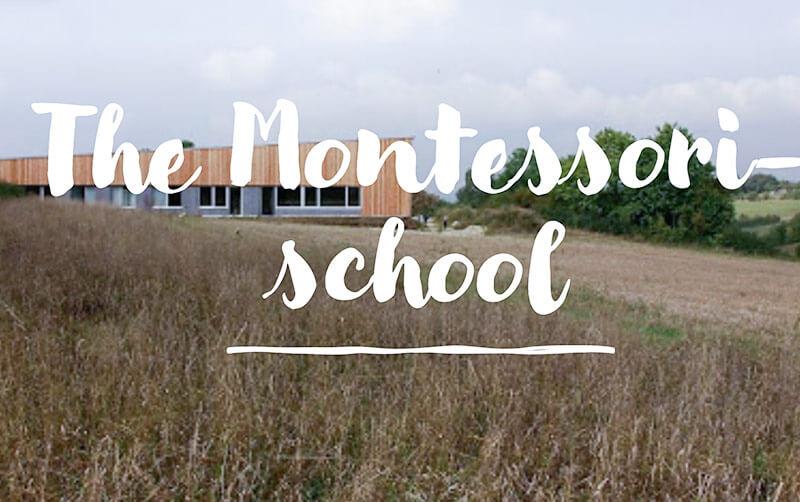 Montessori School Text over photo
