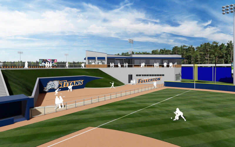 Softball clubhouse rendering