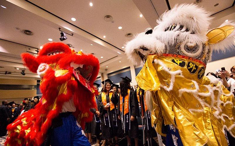 Commencement Lion Dancers