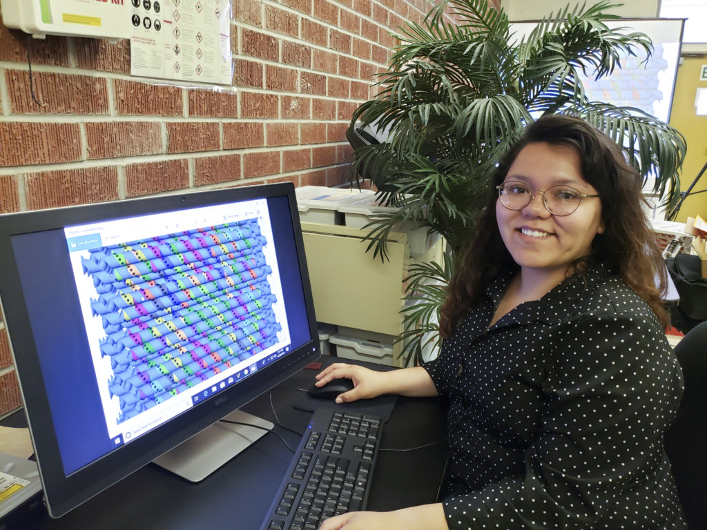 Kimberly Lopez working on research