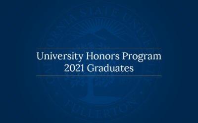 University Honors Program: 2021 Graduates