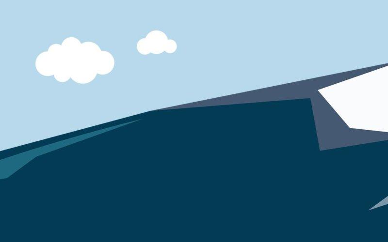 animated mountain peak