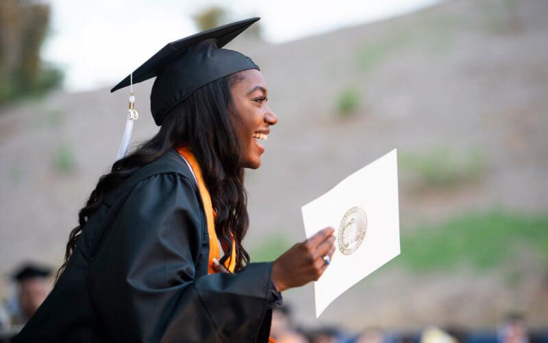 CSUF Graduate with Diploma