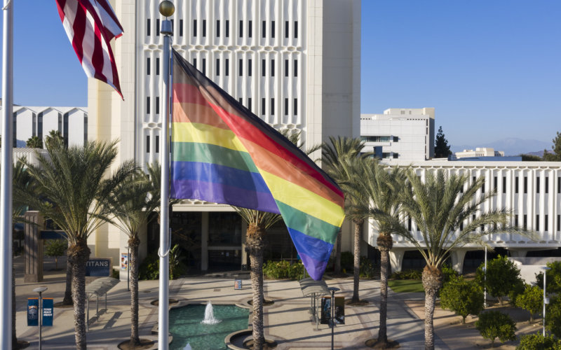 CSUF with LGBTQ Flag