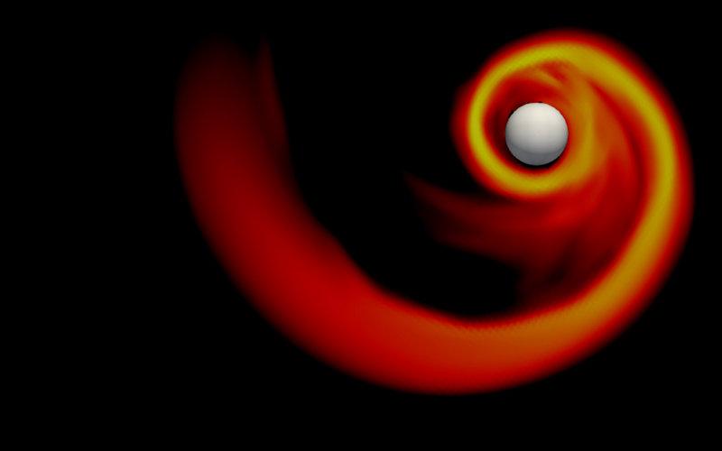 Black Hole Nuetron Star Rendering