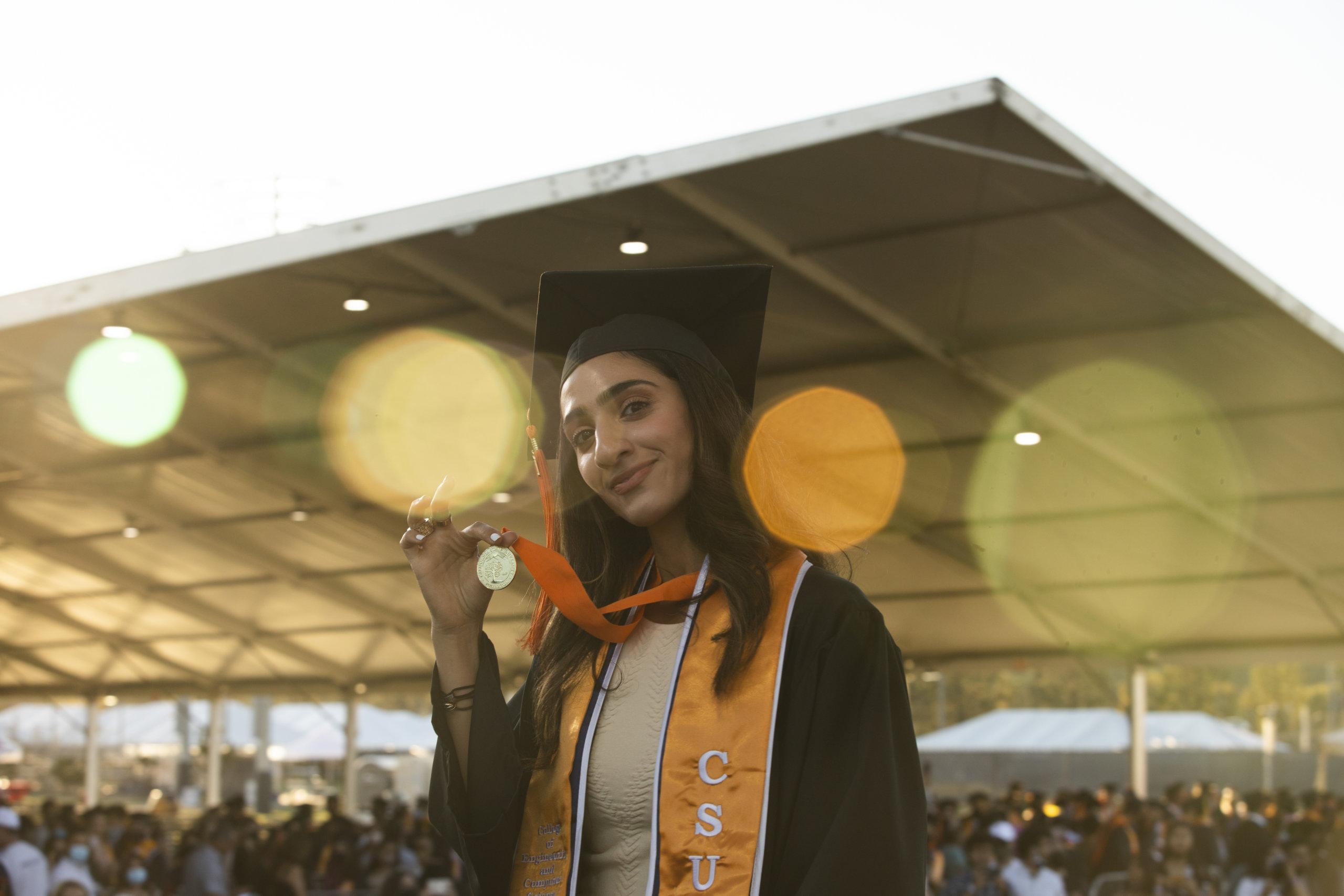 Graduate in regalia
