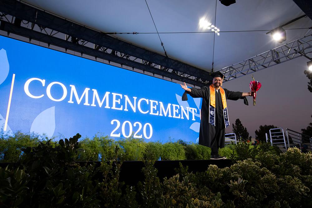 graduate on stage