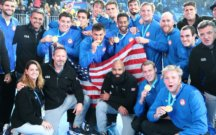 Chris Bates and USA Water Polo Men's National Team