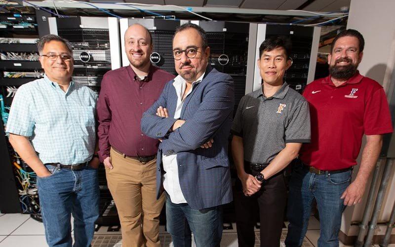 From left: Emerio Martinez, Andrew Petit, Sam Behseta, Willie Peng and John King