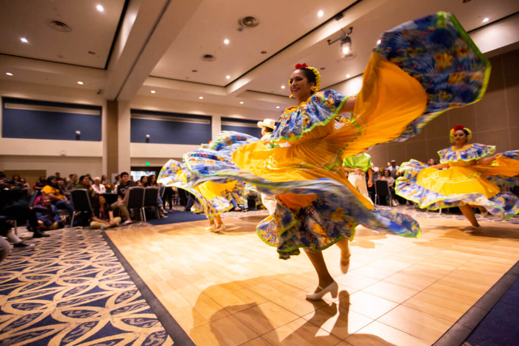 Ballet Folklorico performs during Chicano Celebration
