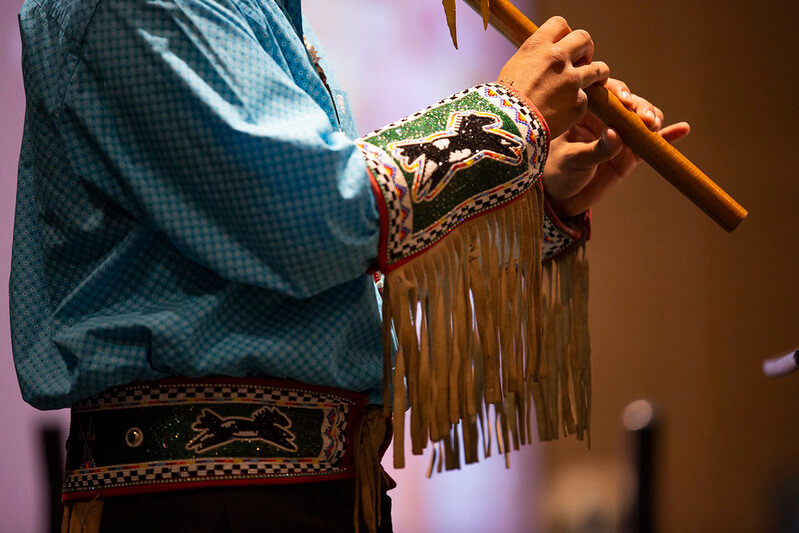 Native American Flute playing