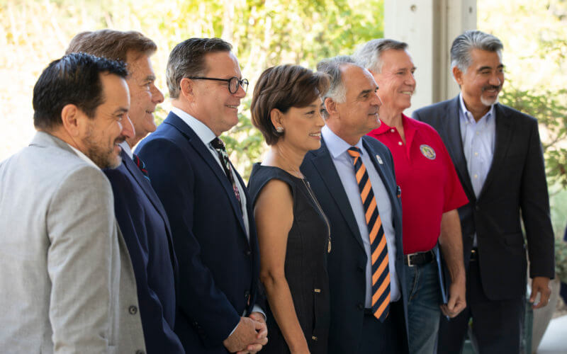 President Virjee with Elected Officials