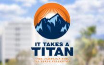 It Takes a Titan Campaign Logo art