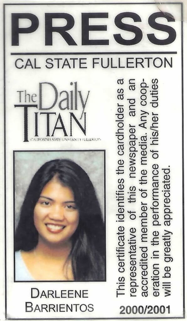 Darleene Barrientos Daily Titan Press Pass